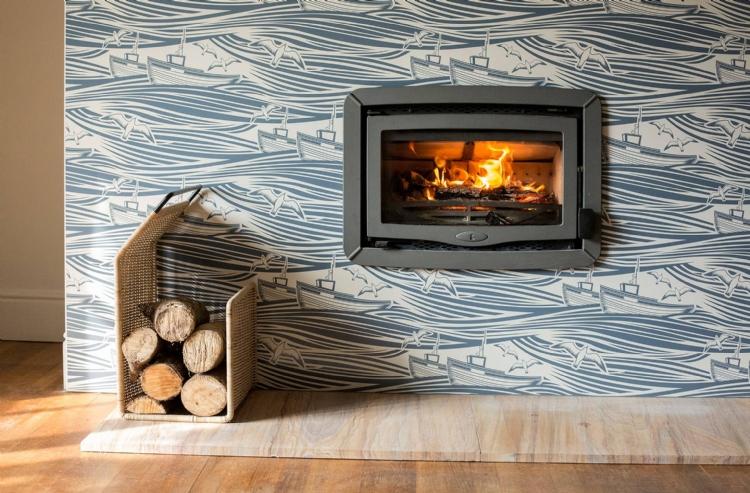 vlaze enamel fireplace surround