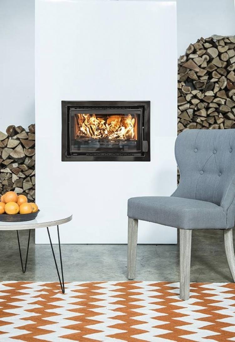 White enamelled fire surround