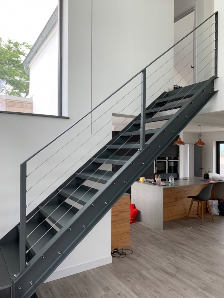 Bespoke Metal Staircase fabrication and fitting Cornwall