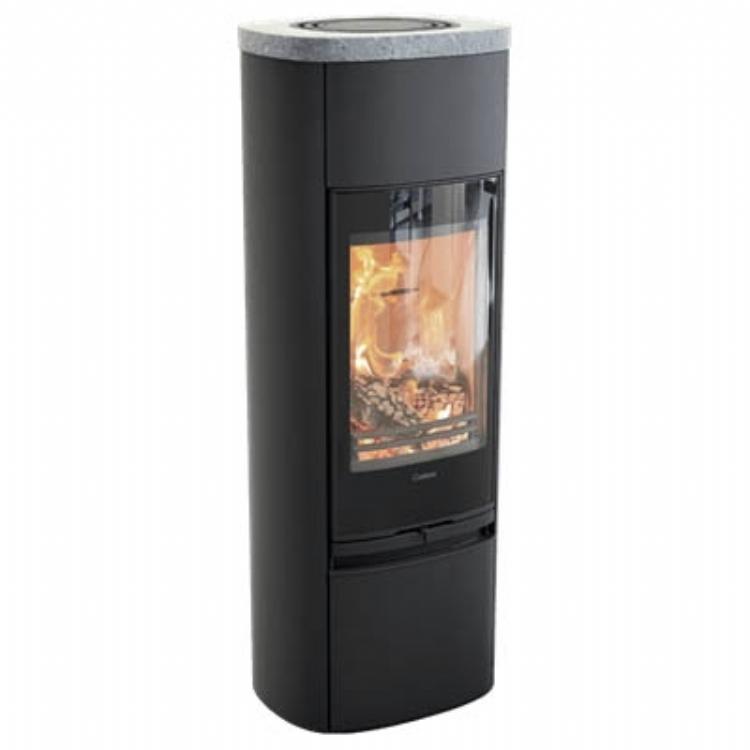 Contura 890G Style, black, soapstone top